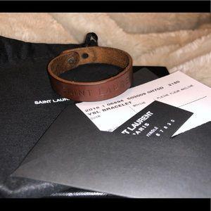 YSL Women's Leather Adjustable Bracelet
